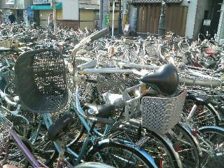 自転車が…。