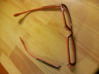 メガネが…。